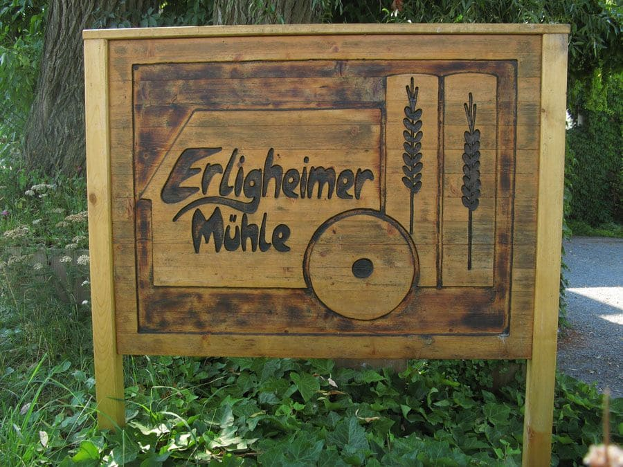 Schild Erligheimer Mühle