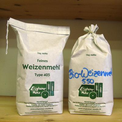 Weizenmehl 405, regionale Herkunft